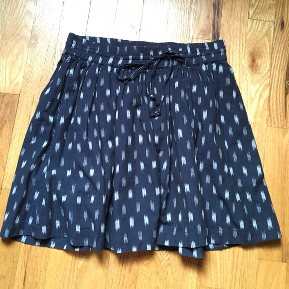 0af4eb8f1 Madewell Skirts | Pullon Cotton Drawstring Skirt Navy Xs | Poshmark